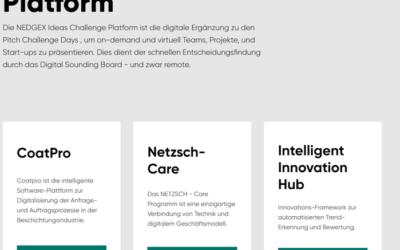 """WE ARE BACK! Erster """"virtueller"""" Pitch Day – NEDGEX Ideas Platform erfolgreich eingesetzt!"""